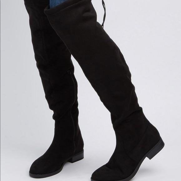 black thigh high boots charlotte russe